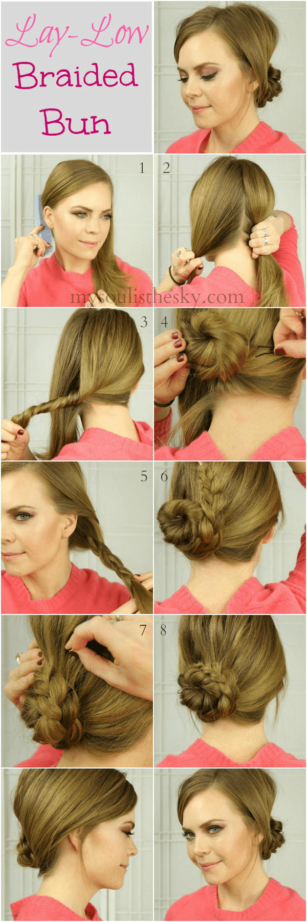 easy lay low bun Easy Lay Low Braided Bun