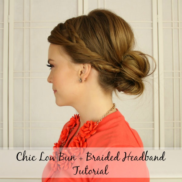 Braided Headband Tutorial Low Bun