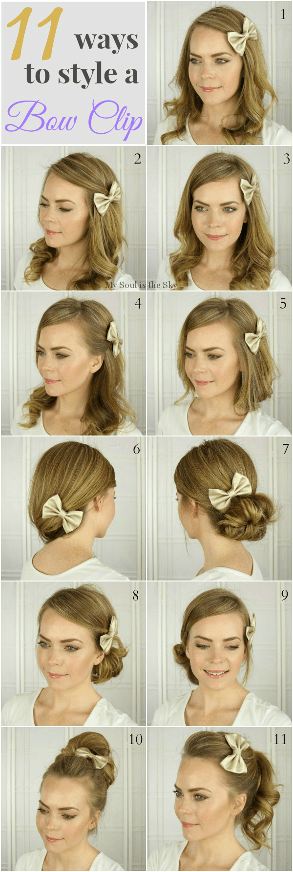 hairstyles with a bow 11 Hairstyles with a Bow