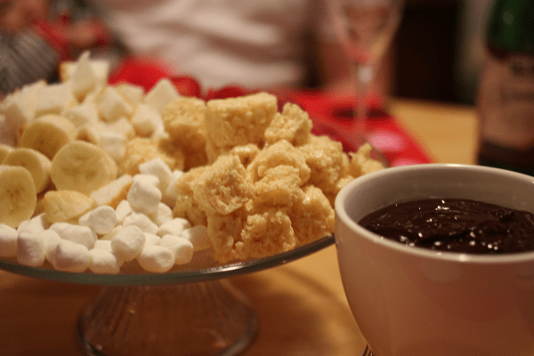 Chocolate Fondue Fondue with Family on Valentines