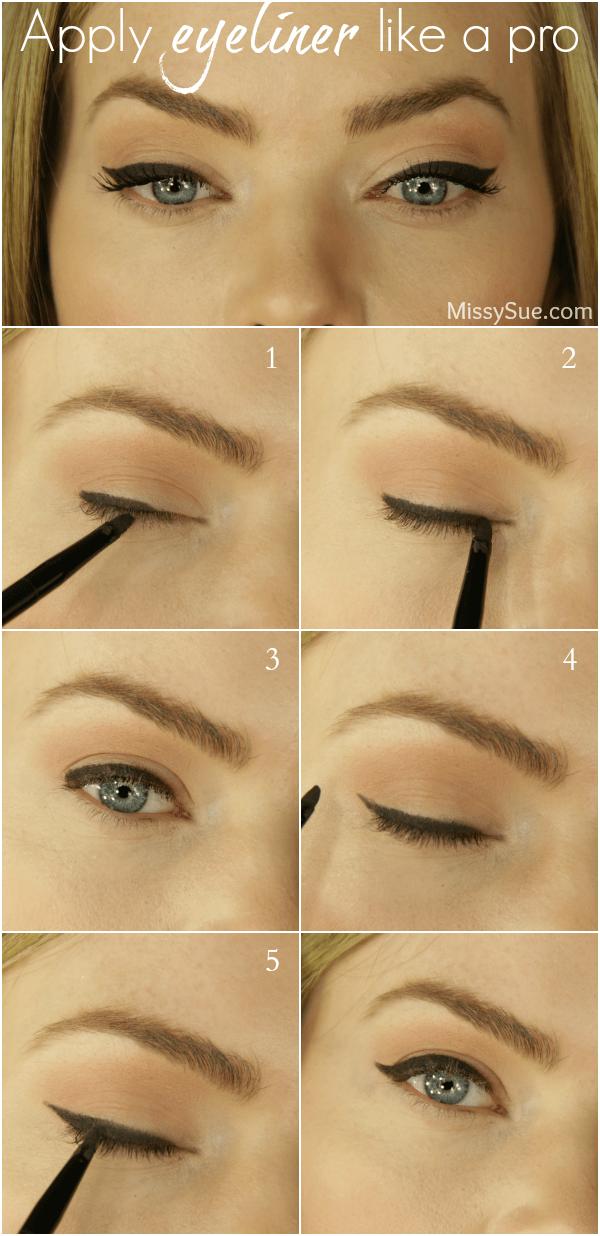 How to put on cat eye eyeliner
