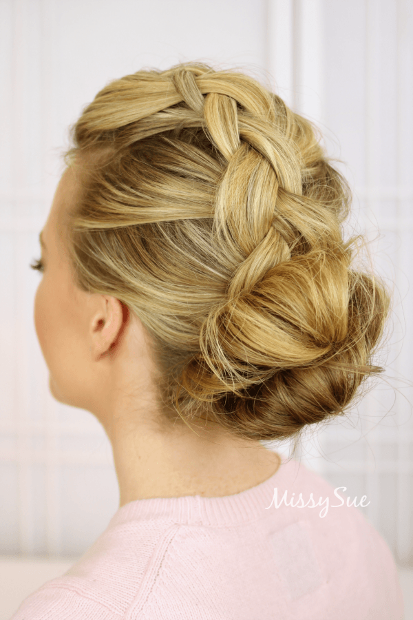 Brilliant  Bun With Micro Braid Accents  Updo Hairstyles  Cute Girls Hairstyles