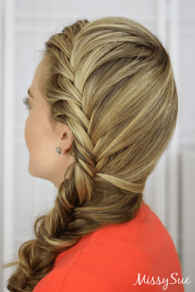 Fishtail french braid for Fish tail hair