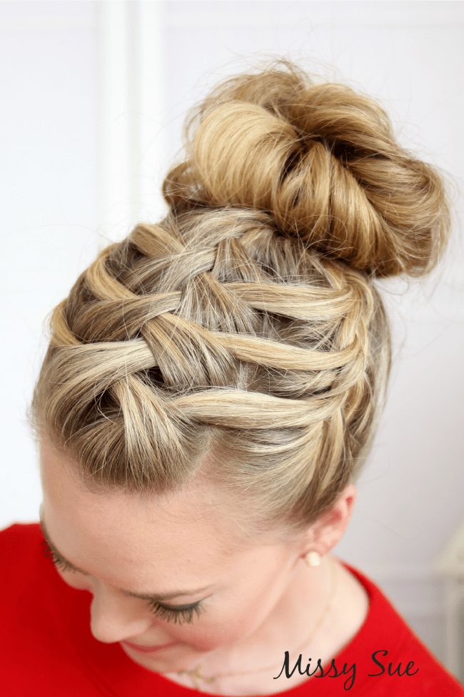 double waterfall triple french braid missysue blog Triple French Braid Double Waterfall Ponytail
