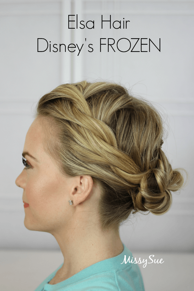 Elsa Coronation Hair from Frozen (Disney) is a great hairstyle for