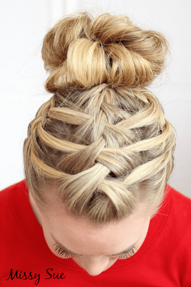 triple french braid double waterfall missysue blog Braid 14 Triple French Braid Double Waterfall