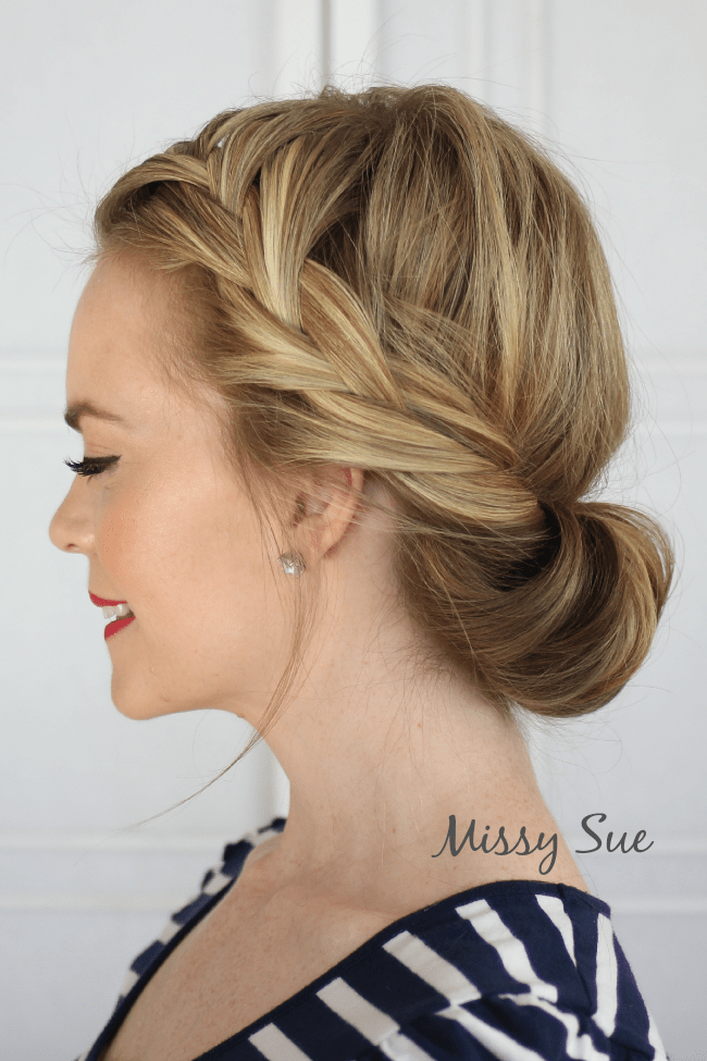 tuck and cover french braid missy sue blog Braid 7 Tuck and Cover French Braid
