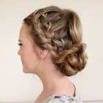Braid 10-Double Waterfall Braids and Fishtail Bun
