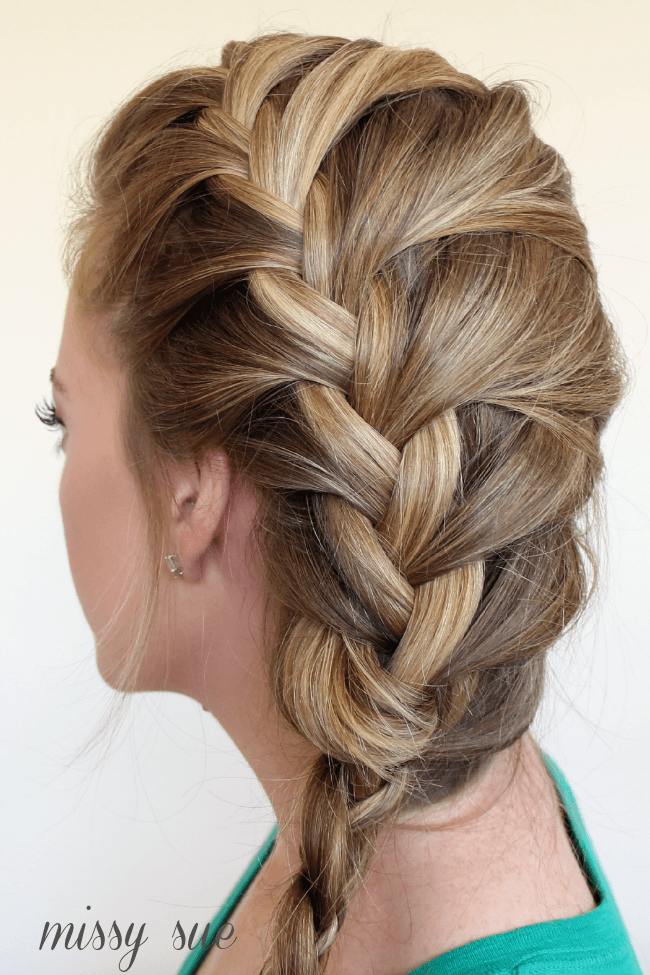 Side French Braid Hairstyle