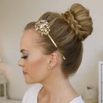 Braid Wrapped High Bun