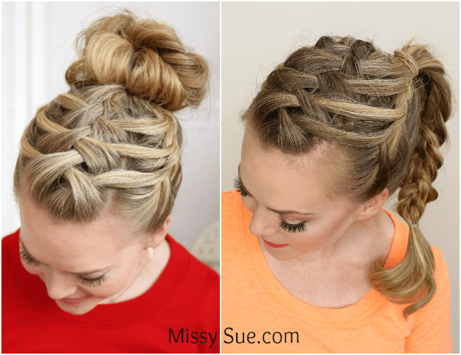 triple french braid double waterfall missysue blog Triple French Braid Double Waterfall Ponytail