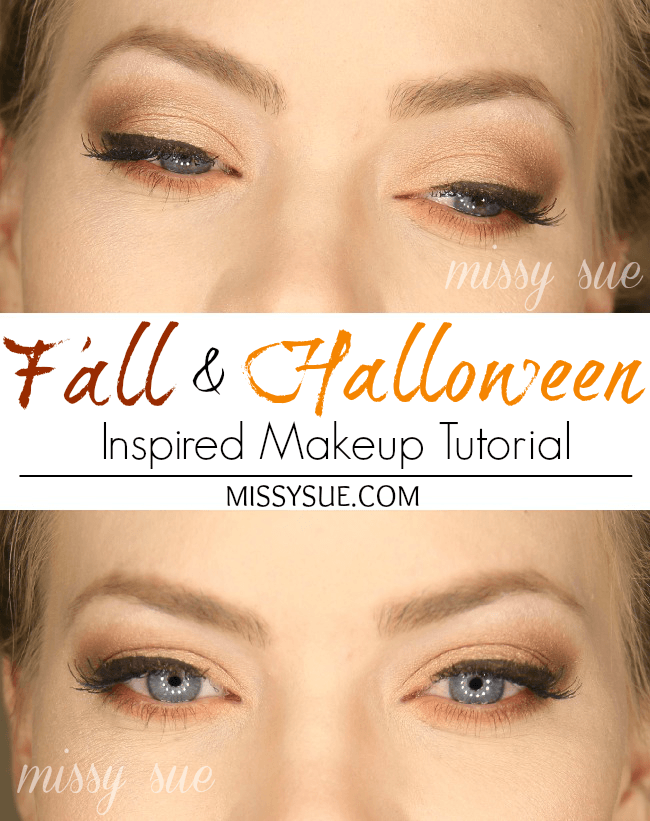 fall and halloween inspired makeup tutorial missysue Fall Halloween Inspired Makeup Tutorial