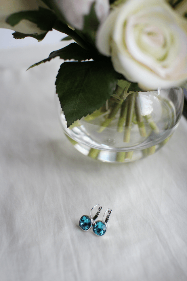 ikita square turquoise swarovski crystal earrings missysue Swarovski Crystal Earrings Giveaway