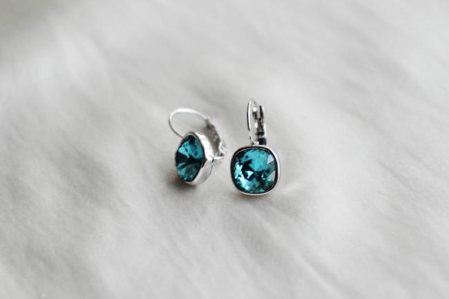 ikita square turquoise swarovski crystal earrings Swarovski Crystal Earrings Giveaway