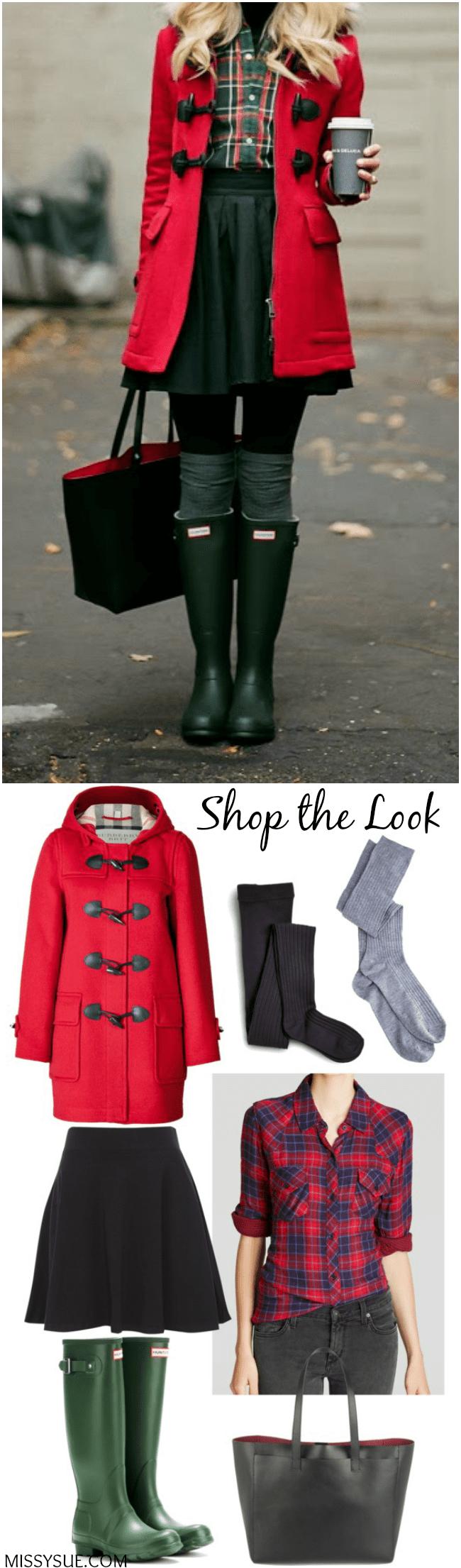 shop the look red plaid1 Shop the Look: Red Plaid