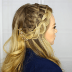 Waterfall Dutch Headband Braid
