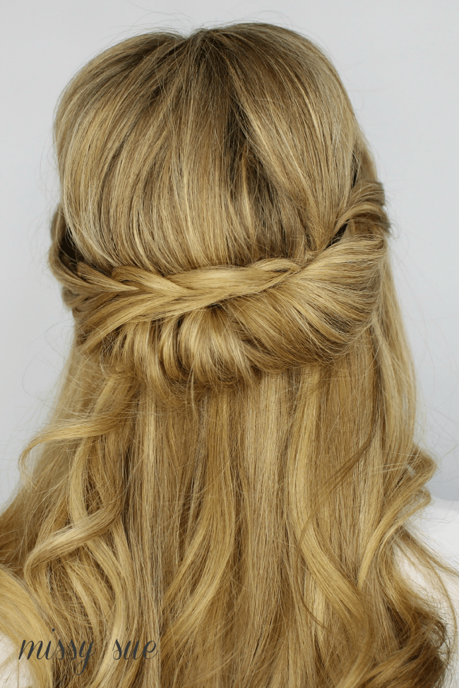 tuck and cover half looped french braid missy sue Tuck and Cover Half Looped French Braid