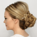 Braid Wrapped Low Bun