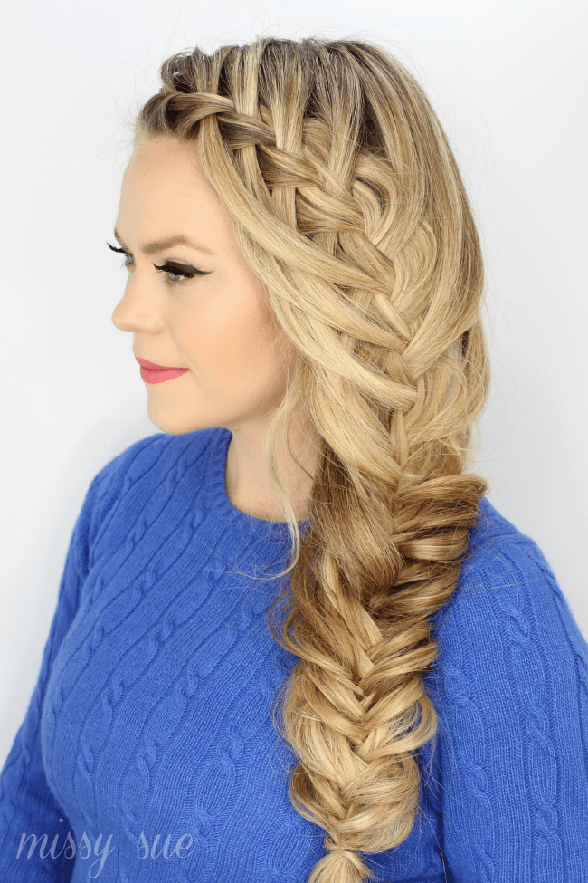 Cascading Waterfall Fishtail Braid Missy Sue Bloglovin