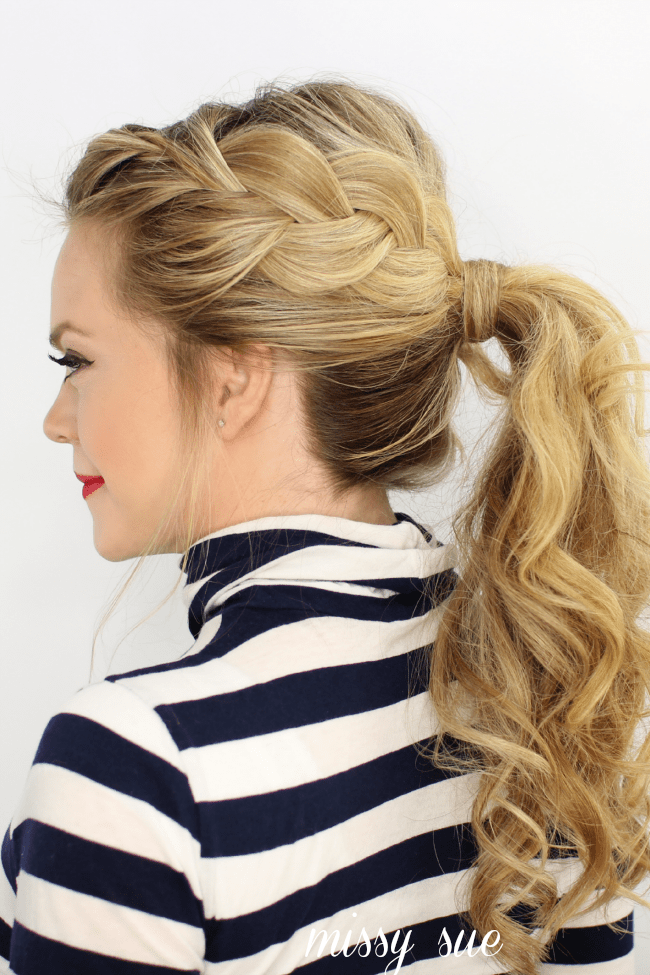 French braid ponytail 10